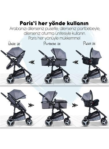 Baby Home Baby Home 945 Travel Sistem Bebek Arabası Ve 600 Oyun Parkı Beşik Gri